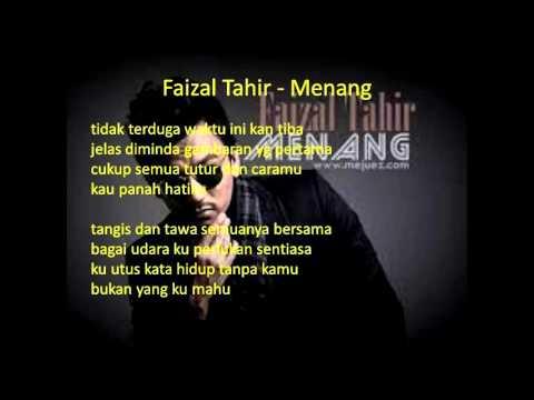 Lirik Lagu Menang - Faizal Tahir  OST Akadku Yang Terakhir
