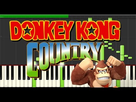 Donkey Kong Country - Main Theme (Piano Tutorial, Synthesia)
