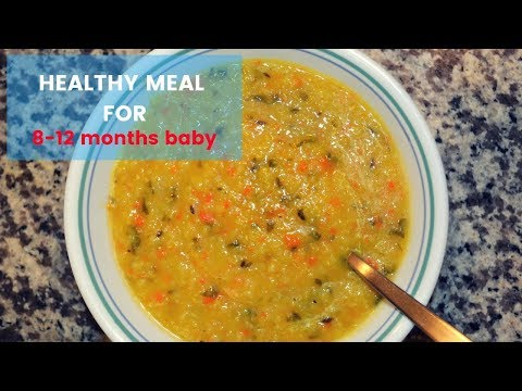 Healthy Dal (Lentil) Based Mashed Meal For 8-12 Months Baby//Indian Baby Food Recipe In Telugu