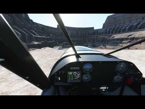 Extreme Landing+Takeoff inside Colosseum (Roma, Italy) in Microsoft Flight Simulator Premium Deluxe