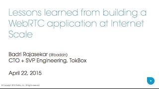 TokBox CTO, Badri Rajasekar, speaks at Fluent Conference 2015
