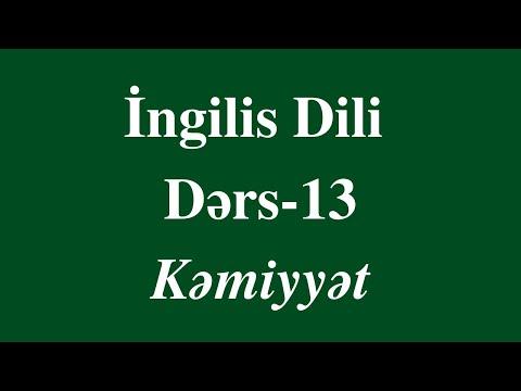 Ingilis Dili - 13 Kəmiyyət Bildirən Sözlər