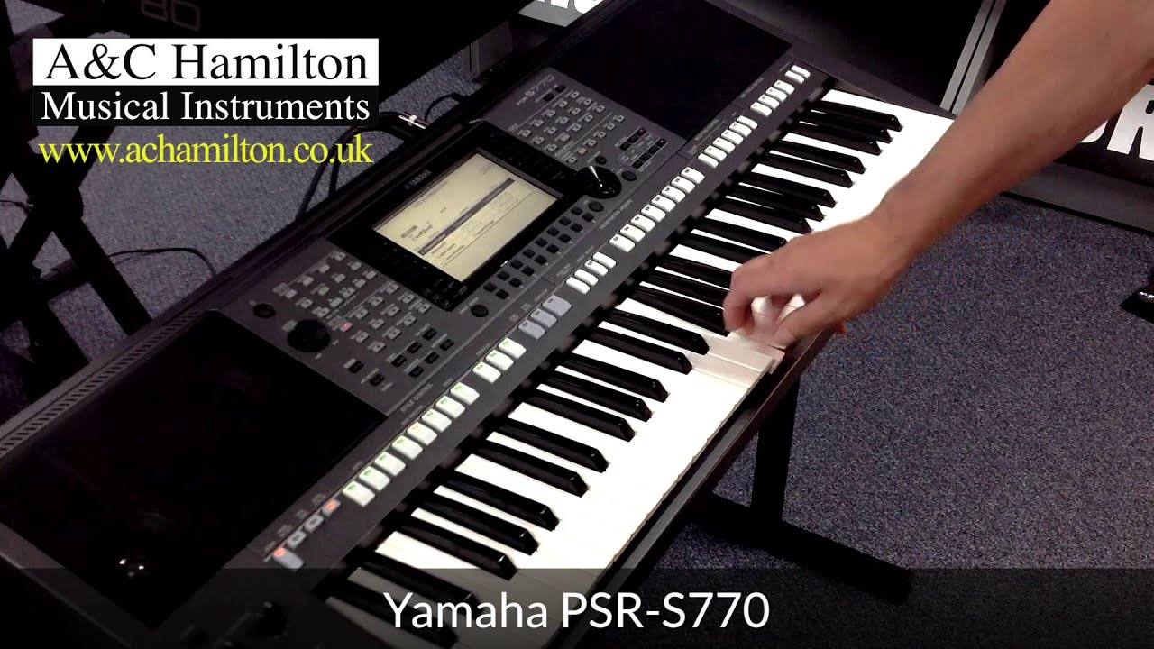 yamaha psr s770 arranger workstation keyboard first look. Black Bedroom Furniture Sets. Home Design Ideas