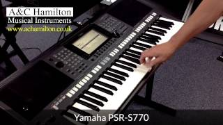 Yamaha PSR-S770 Arranger Workstation Keyboard *FIRST LOOK*