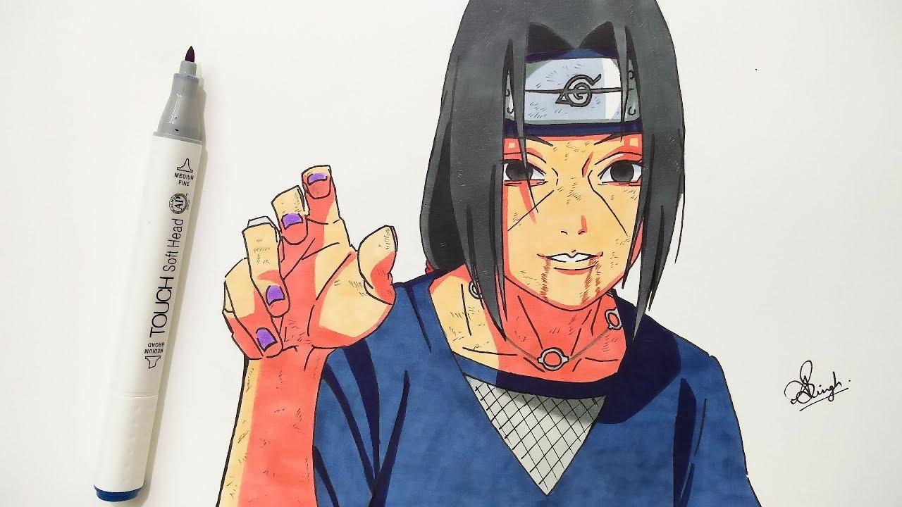 Drawing Itachi - Naruto Shippuden - YouTube