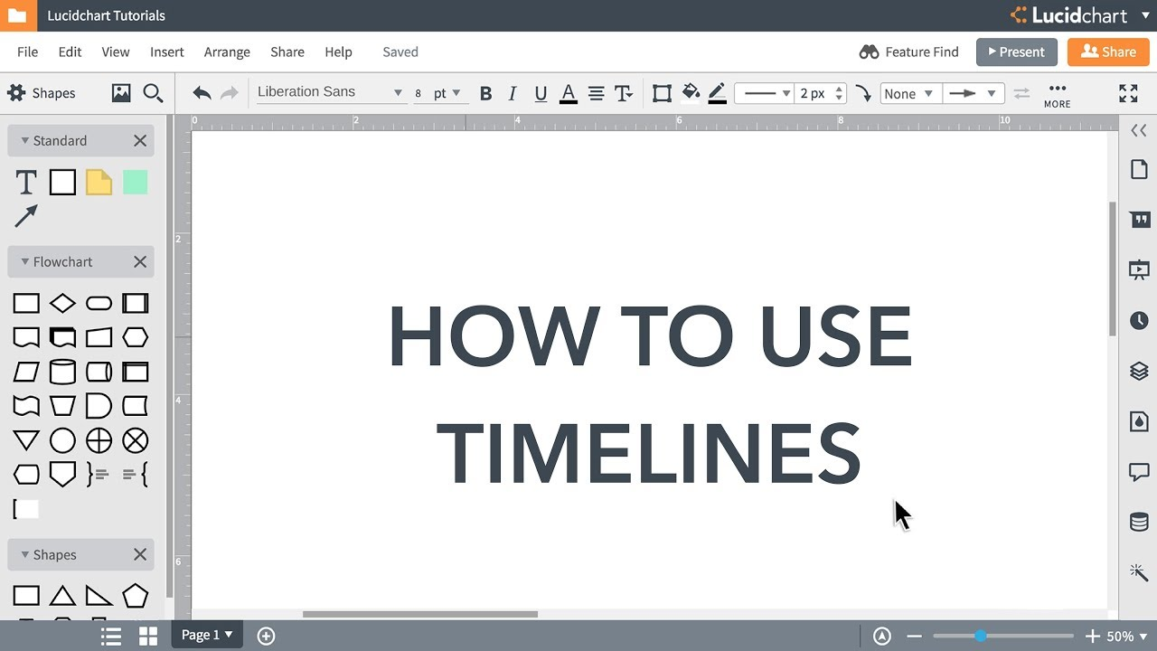 Lucidchart Tutorials - Timelines