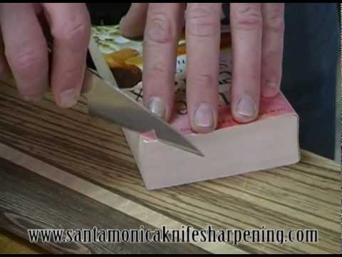 Fun with hand sharpened global GS-7 knife