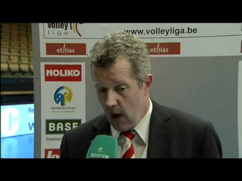 LIGA 2010-2011: Playoffs 2011 Maaseik vs Roeselare -  Interview Coach Vital Heynen