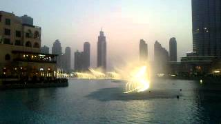 Dubai Mall Water Fountain Dance Burj Khalifa by Imran