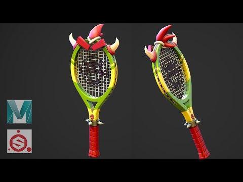 Autodesk Maya 2019, Substance Painter  - Stylized Tennis Racket
