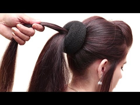 Beautiful MESSY BUN WITH FRONT PUFF HAIRSTYLE    Hair Style Girl    Party/wedding Hairstyle 2018
