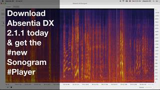 ABDX 2.1.1 introduces the new Sonogram Player