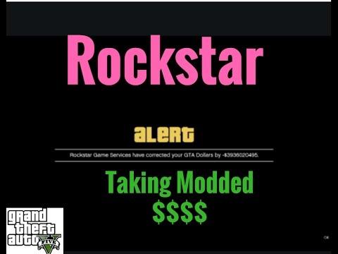 GTA V online :  Rockstar Stealing Modded Money $$$$$$