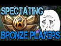 League Of Legends Spectating Bronze aka most noob players in ranked