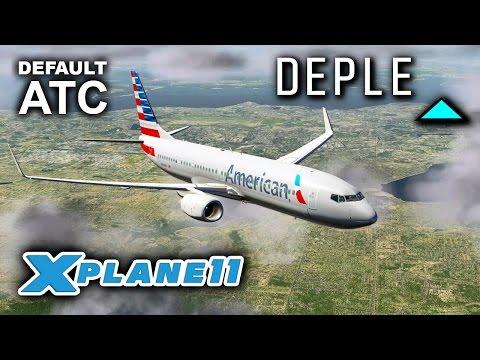 X-Plane 11 Beta | DEFAULT ATC TESTED (FULL FLIGHT)