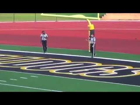 Texas Lutheran kicker boots blocked kick through uprights