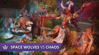Space Wolves vs Chaos - 2000pt Warhammer 40k battle report