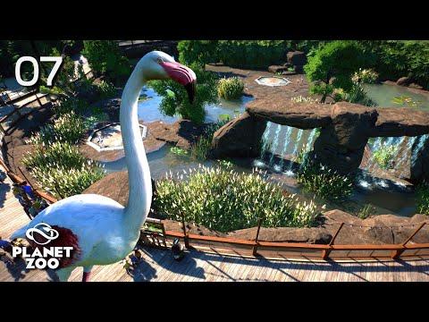 Planet Zoo | Oak Creek Zoo 🦓 | Ep.7 Flamingos Habitat
