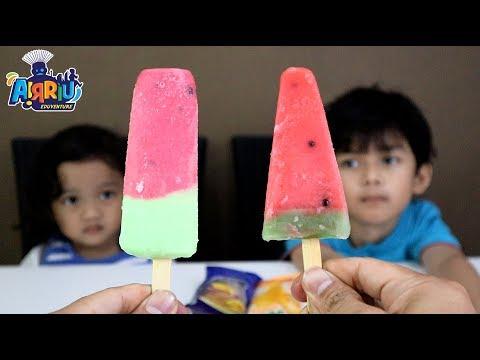Perang es krim buah paling enak || AICE & WAKU WAKU