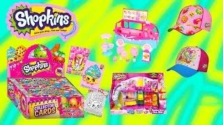 Shopkins Season 3 Fashion Boutique Mode Ice Cream Truck Playset Candy Collectors Card Box Review