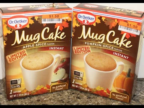 Dr. Oetker Apple Spice & Pumpkin Spice Mug Cake Review