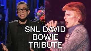SNL David Bowie Tribute by Fred Armisen, The Man Who Saved the World 1979 Performance