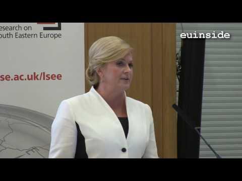Kolinda Grabar-Kitarovic at the London School of Economics