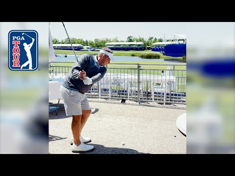 Sean Payton's incredible shot from hospitality tent at Zurich Classic