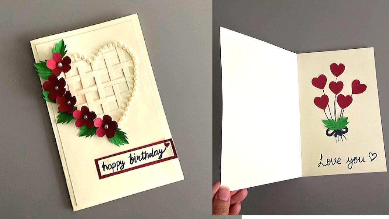 Beautiful Handmade Card for Birthday/Anniversary  DIY Card Making Idea