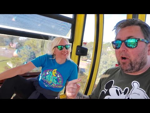 My First Time On The New Disney Skyliner System - Taking All The Routes / Theme Park Gondola Review