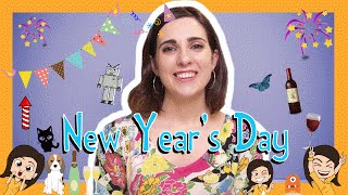 Spanish NEW YEARS DAY Words with Rosa!