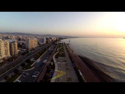 Cyprus Limassol promenade the whole distance 1 km by Cyprus from Above and Oramatech Services