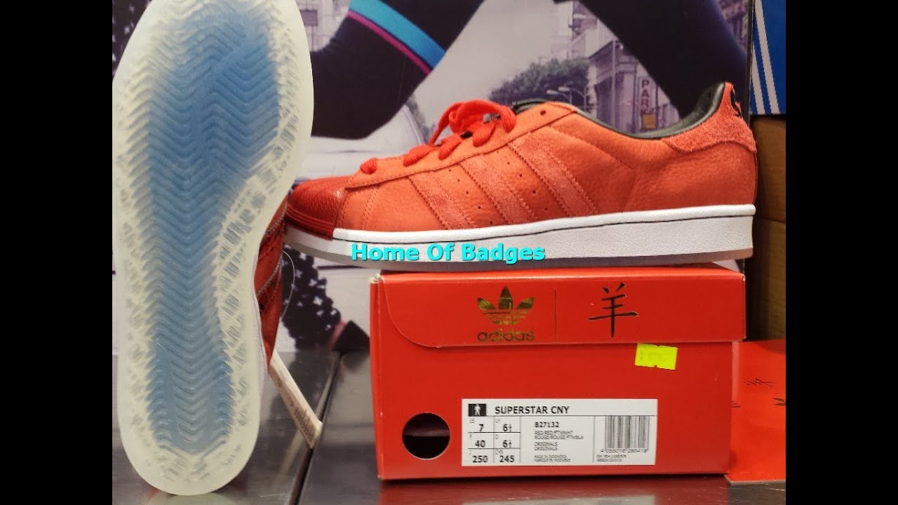 e8758af23 20150226 Adidas Originals 2015 Q1 Men Women Superstar CNY Goat Fashion  Sneakers B27132 - YouTube