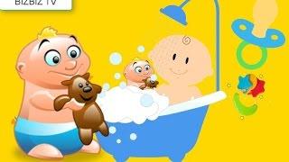 Bebekler için çizgi film özel şarkılı ve renklerle dikkat çekici :) bebek meme emiyor banyo yapıyor