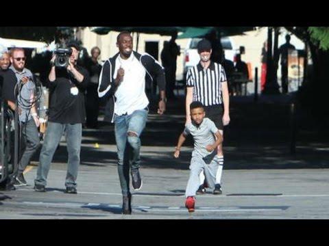 Un niño de ocho años reta a Usain Bolt a una carrera