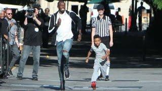 Un niño de ocho años reta a Usain Bolt a una carrera thumbnail