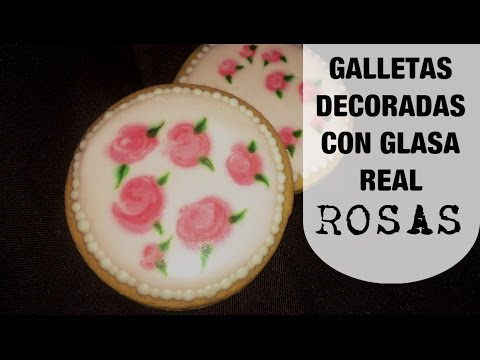 Galletas Con Decoración Vintage De Rosas En Glasa Real Roses Royal Icing Cookies Queremos Pastel