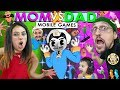 AKINATOR CAN'T BE BEAT!!  FGTeeV Mom vs Dad Mobile Games Challenge (Bendy, Baldi, Nom, Flip Diving)