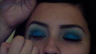 bright blue aqua shadow tutorial Thumbnail