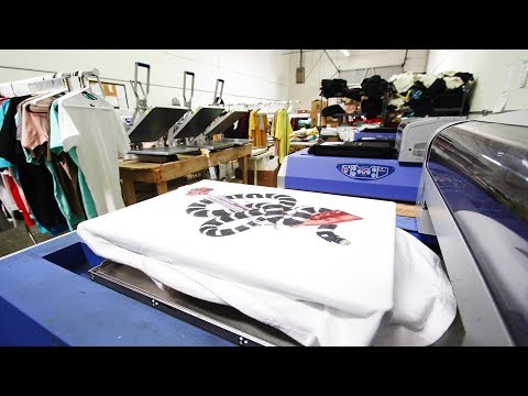 Start Your Own T Shirt Printing Business Using a DTG Printer