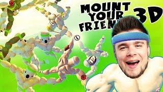 BUDUJEMY SCHODY DO NIEBA! | Mount Your Friends 3D [#3] (With: Plaga)