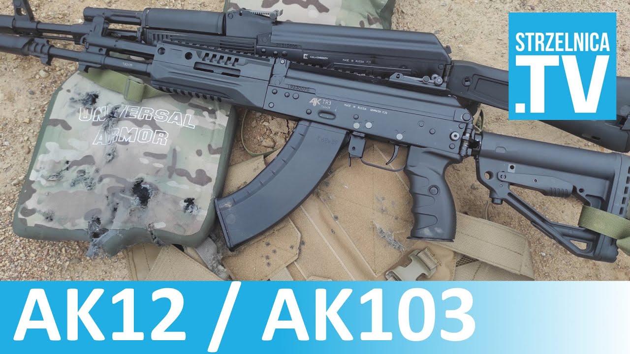 AK12 i AK103 vs chińska płyta balistyczna Lev III #109