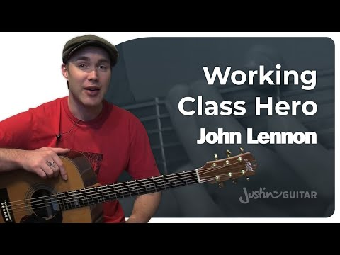 Working Class Hero - John Lennon (Songs Guitar Lesson BS-310) How to play