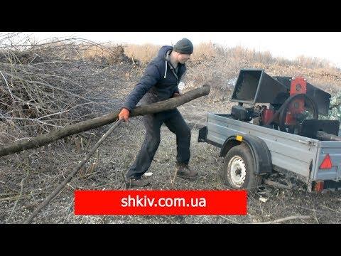 """ТЕСТ Драйв! СМОТРЕТЬ ДО КОНЦА! Wood Chipper Рубит ветку до 150мм. Измельчитель веток """"ШКИВ"""". RĘBAK"""