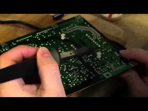 Repairing a Samsung LCD TV (with AU-Optotronics panel) Solarization With Power Supply Issues