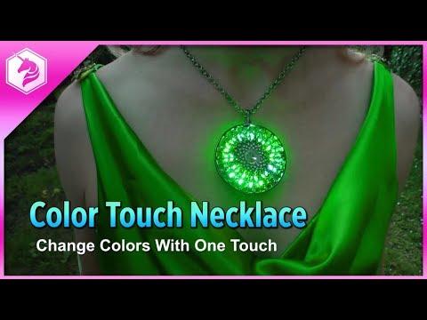 LEARN: Color Touch Pendant Necklace @adafruit #adafruit