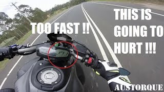 Going Too Fast Yamaha MT07 !
