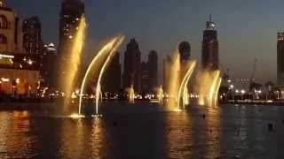 Water Fountain Show @ Burj Khalifa & Dubai mall - 4K
