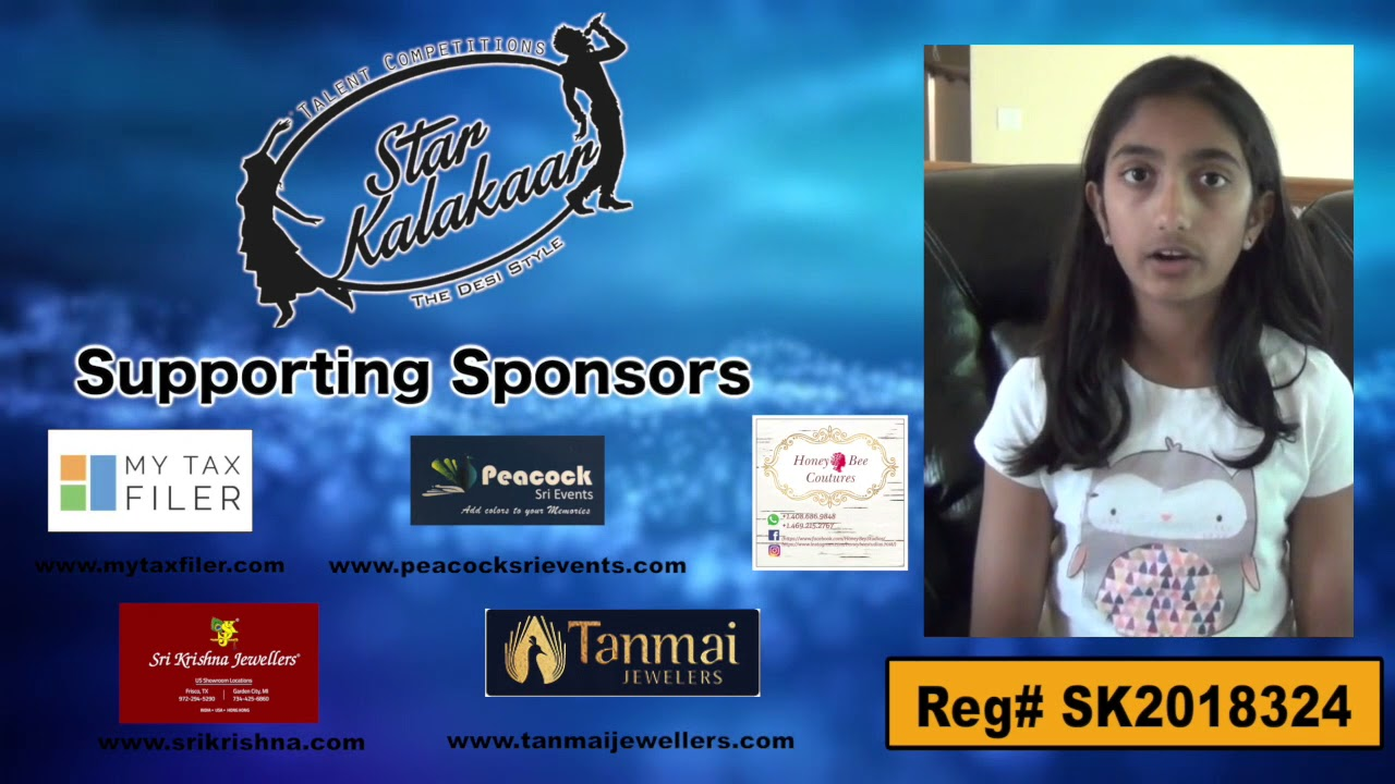 Participant Reg# SK2018-324 Introduction - US Star Kalakaar 2018 || DesiplazaTV