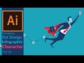 How to draw Simple flat design character for info-graphics in Adobe illustrator - Characters 02